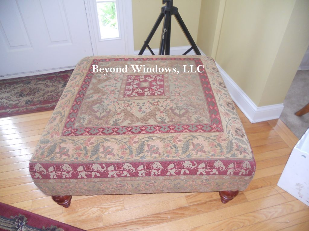 Ottoman Reupholster Finished